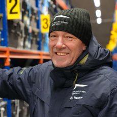 NordGen's Seed Vault Coordinator Åsmund Asdal standing inside Svalbard Global Seed Vault