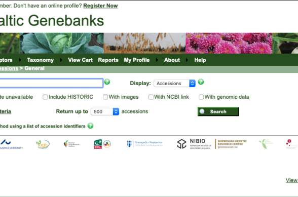Screenshot of the new web interface to NBIS