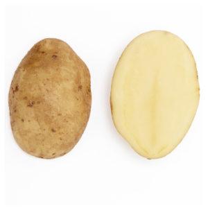 Skivad gul potatis