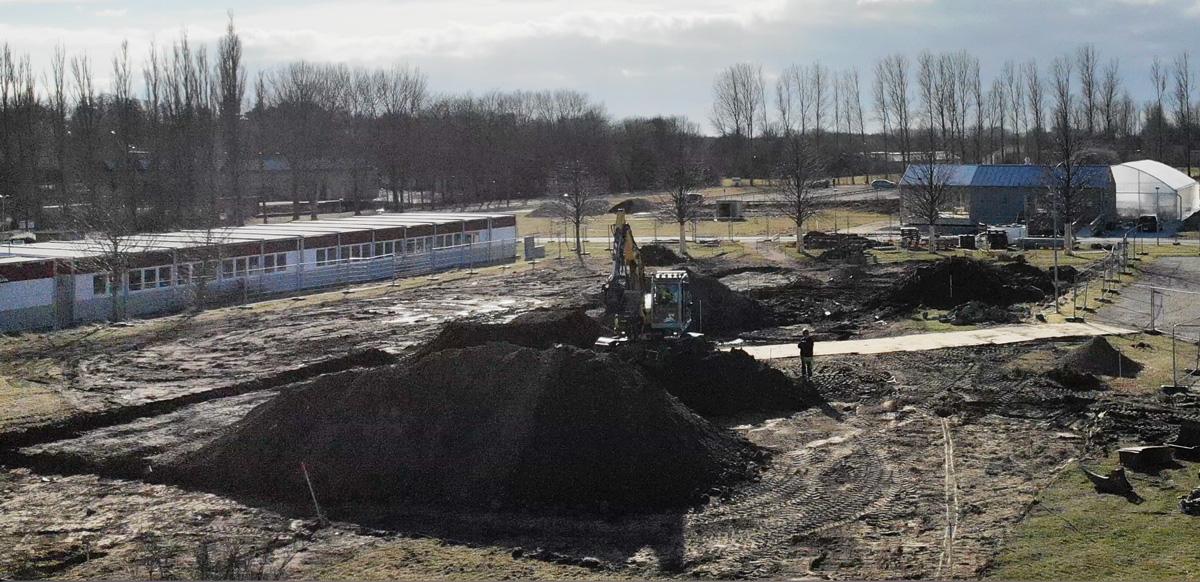 Bild på en arbetsplats där NordGen håller på att bygga sitt nya kontor